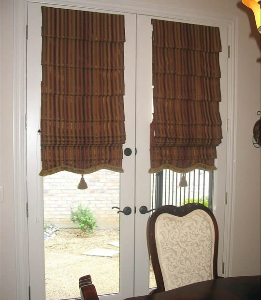 Roman Shades With Curtains French Door Blinds And Shades | Buyhomeblinds.com