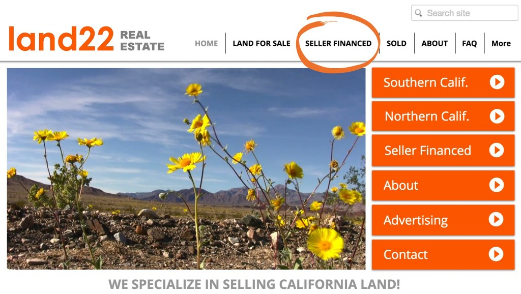 How to find seller financed land for sale Lenders for land purchase