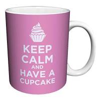 Keep Calm and Eat a Cupcake Pink Coffee Mug Best Price Review