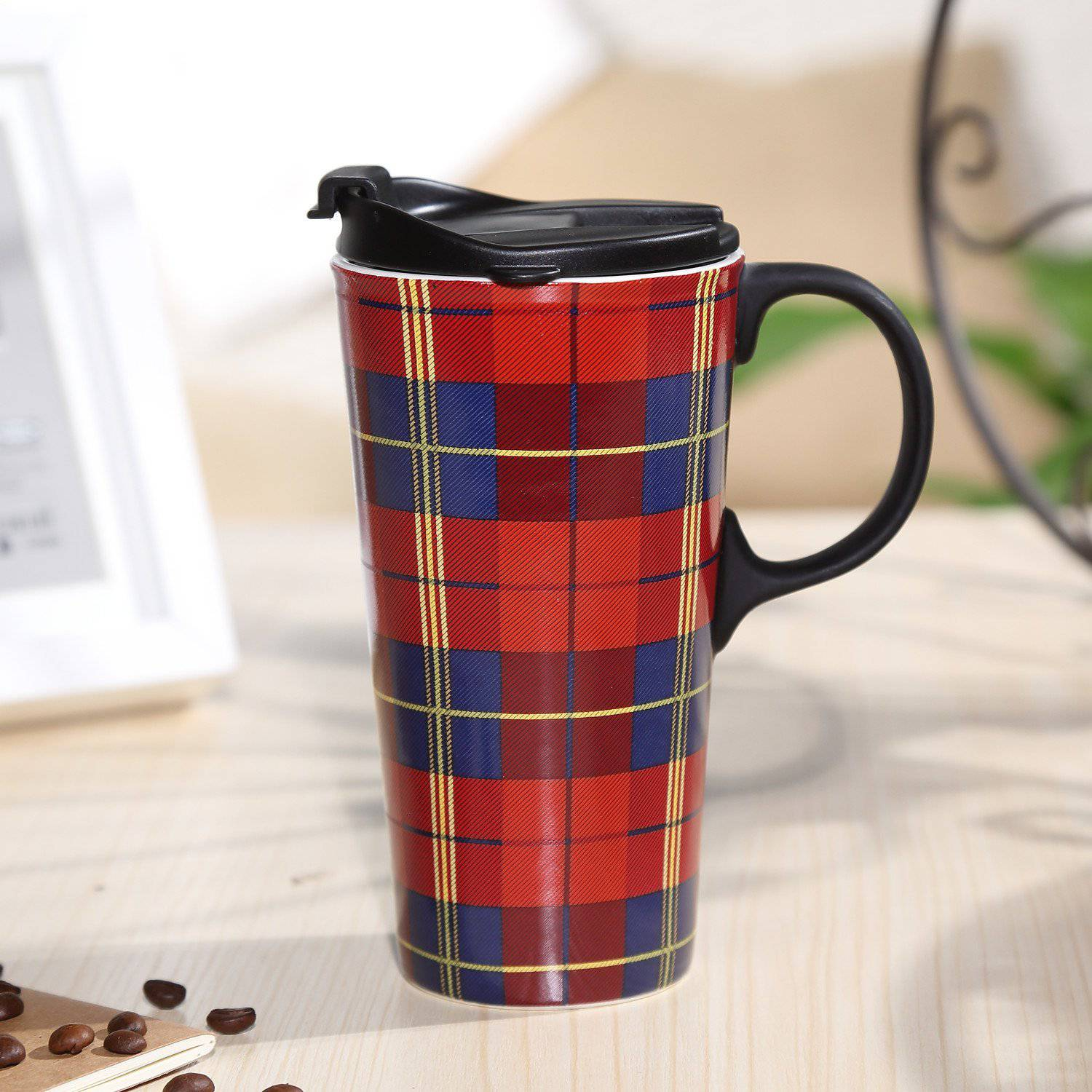 Buy Coffee Mugs Travel Coffee Ceramic Mug With Lid Gift Box Best Price Review