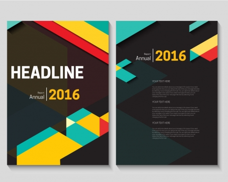 A4 brochure design vectors stock for free download about (17
