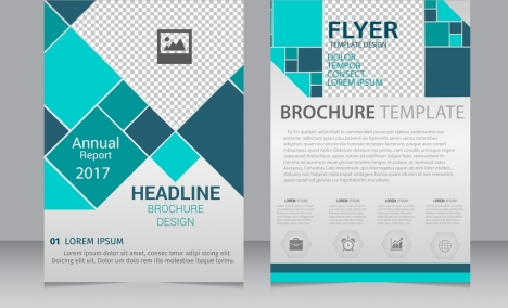 Geometric flyer templates vectors stock for free download about (87