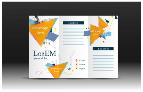 Brochure design vector with modern trifold illustration vectors