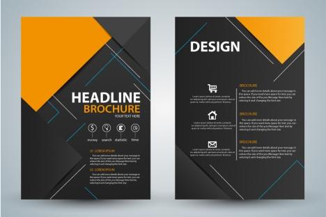 Brochure design template with modern style background free vectors - modern brochure design