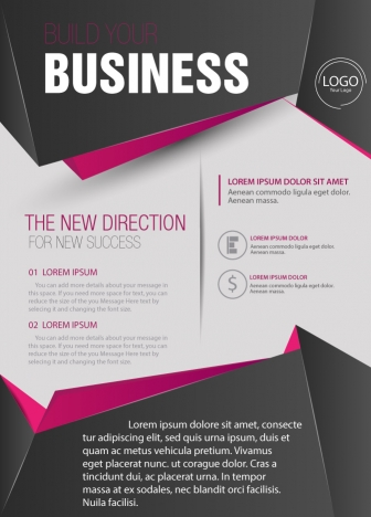 Business brochure design with 3d style vectors stock in format for