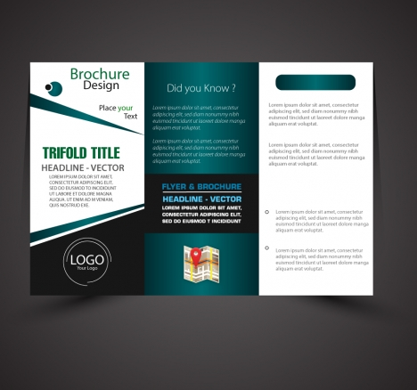 Business brochure design with modern trifold style vectors stock in