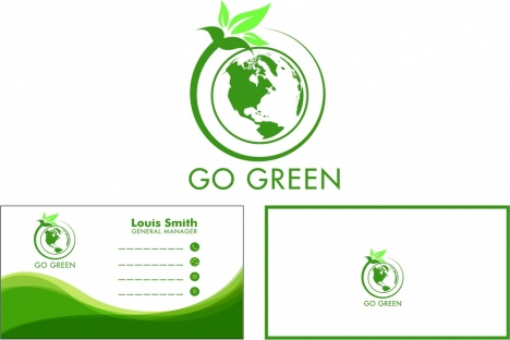Green name card vectors stock for free download about (8) vectors - name card format