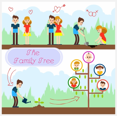 Family tree vector free vectors stock for free download about (33