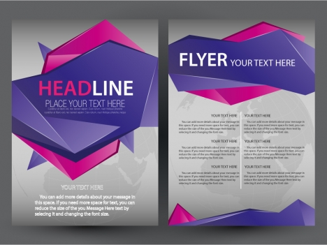 Free business flyer design with modern abstract style vectors stock - free flayer design