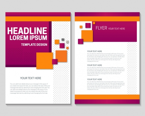 Flyer template design with colorful geometric background vectors - free design flyer templates