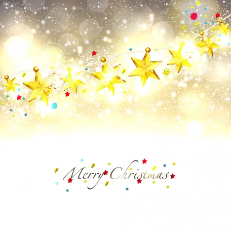Line of golden star merry christmas background vectors stock in
