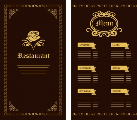 Food and drinks menu vectors stock for free download about (36 - drinks menu template free