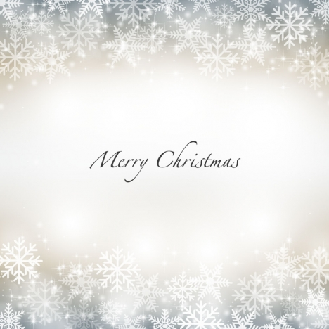 Snow flake merry christmas background vectors stock in format for
