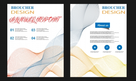 Vector brochure template flyer template annual report business cover
