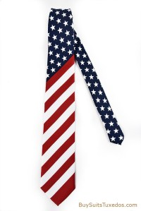 Beautiful American Flag Necktie | King Formal Wear