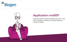 Biogen lance l'application MaSEP