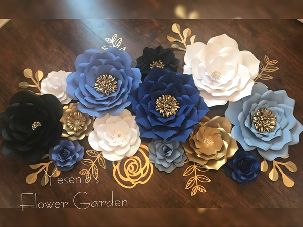 giant paper flower wall backdrop