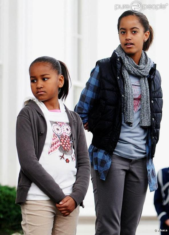 les deux filles de Barack Obama