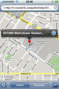 The updated iPhone app features Google Maps integration!