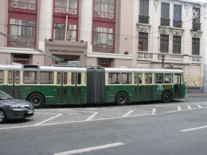 Another trolley in Valparaiso, Chile.
