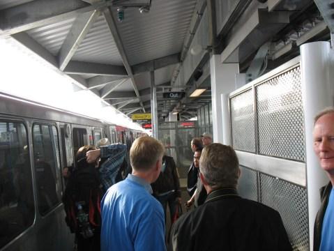 Howard Station platform in north Chicago.