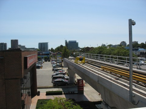 The end of the Canada Line at Richmond-Brighouse.