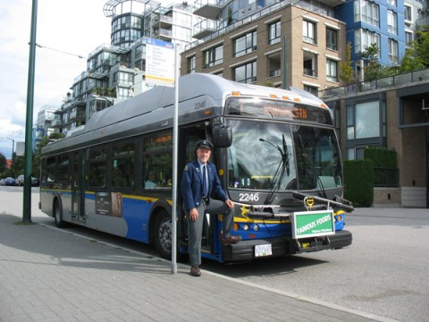 Angus with the 7 Nanaimo Station trolley.