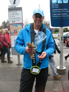 John, a transit host at Main Street-Science World Station, brought in transit pins of his own to hand out to kids on transit. How wonderful!