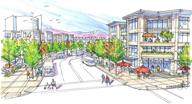Rendering of the future Willowbrook Exchange