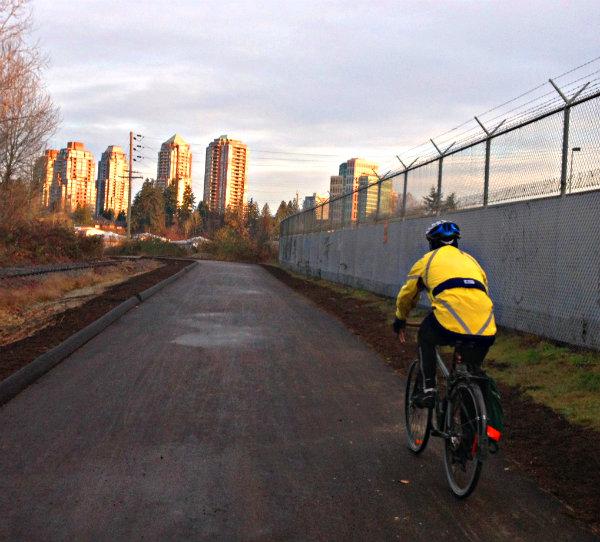 cyclist near Southridge