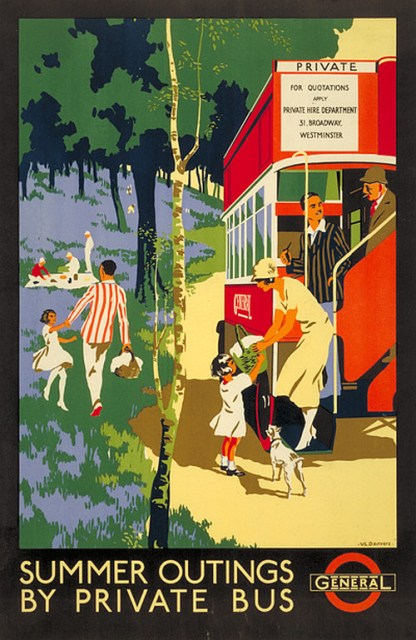 Summer Outings by Private Bus (via LTMuseum's year of the bus)