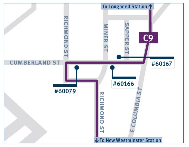C9 bus stops