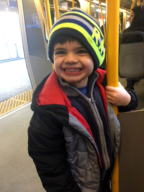 6Happy to be riding skytrain