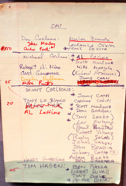 Cast Notes for The Godfather