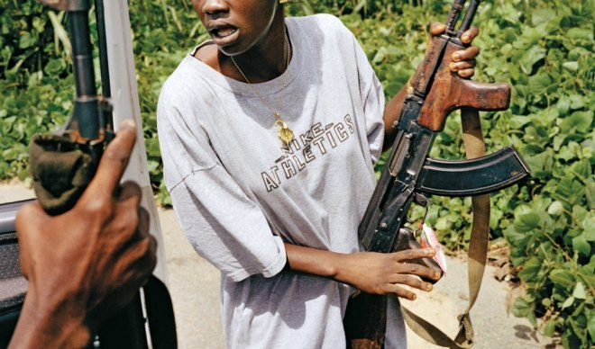 Female child soldier