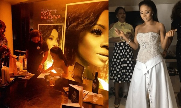 Image result for launch of toke makinwa's book