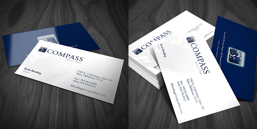 compass business cards - Selol-ink