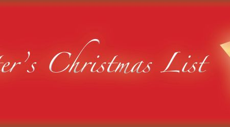 Writer's Chirstmas list, Writer's letter to Santa, christmas list