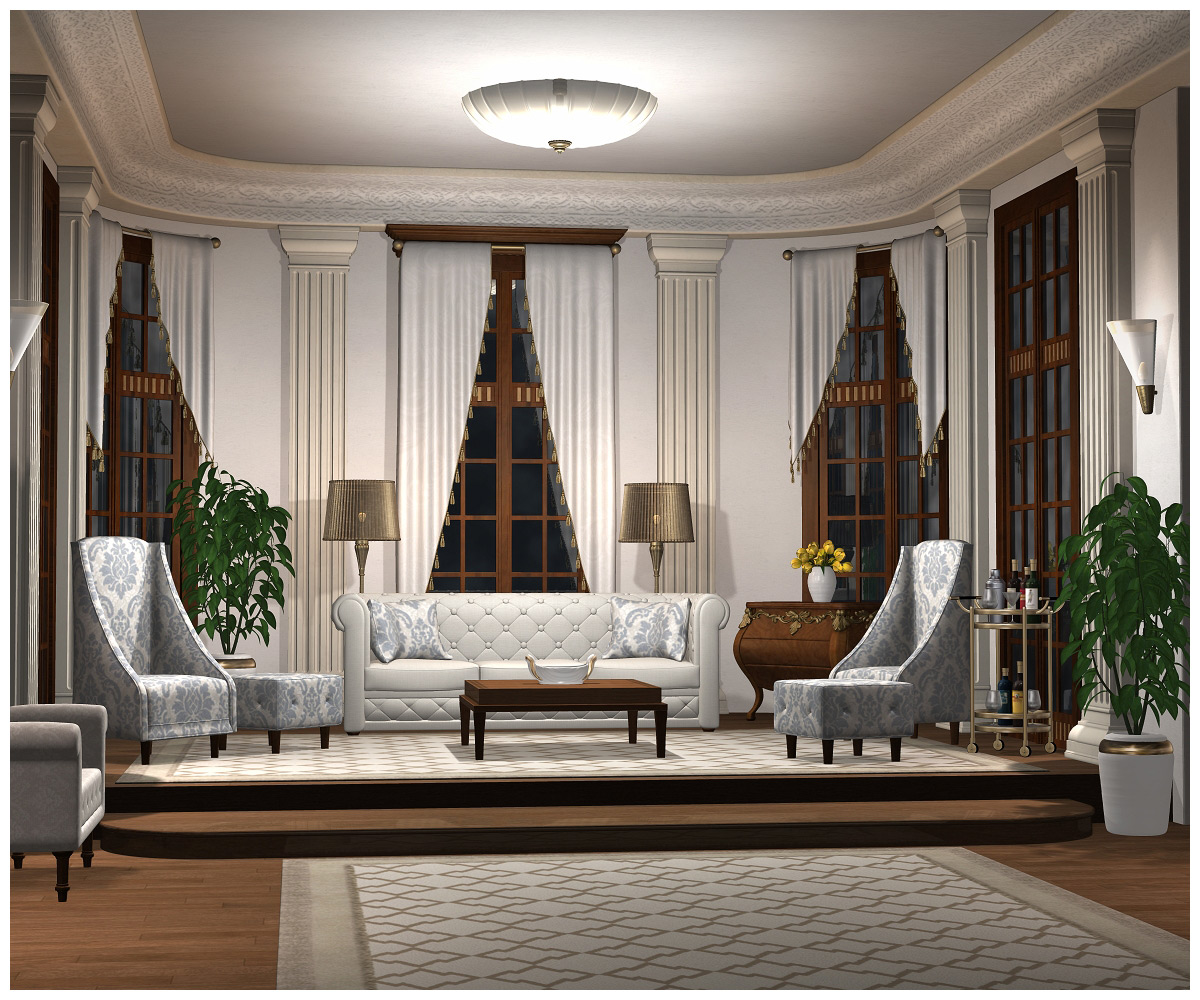 Grand Salon Grand Salon 3d Models Grayclouddesign