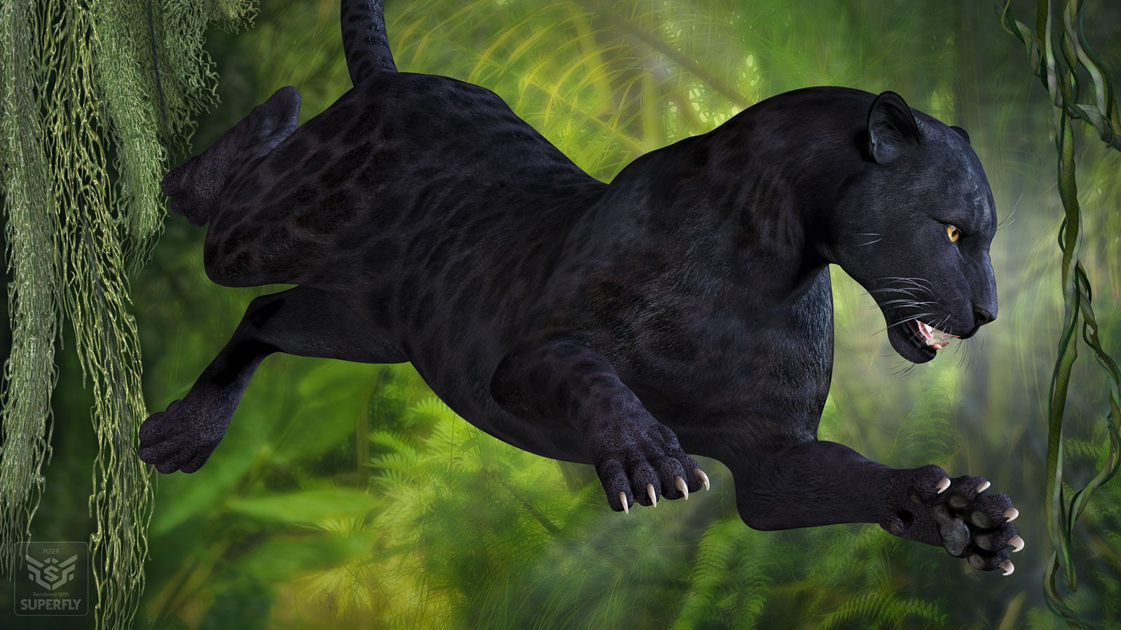 Create Animated Wallpaper Cwrw Black Panther For The Hivewire Big Cat 3d Figure