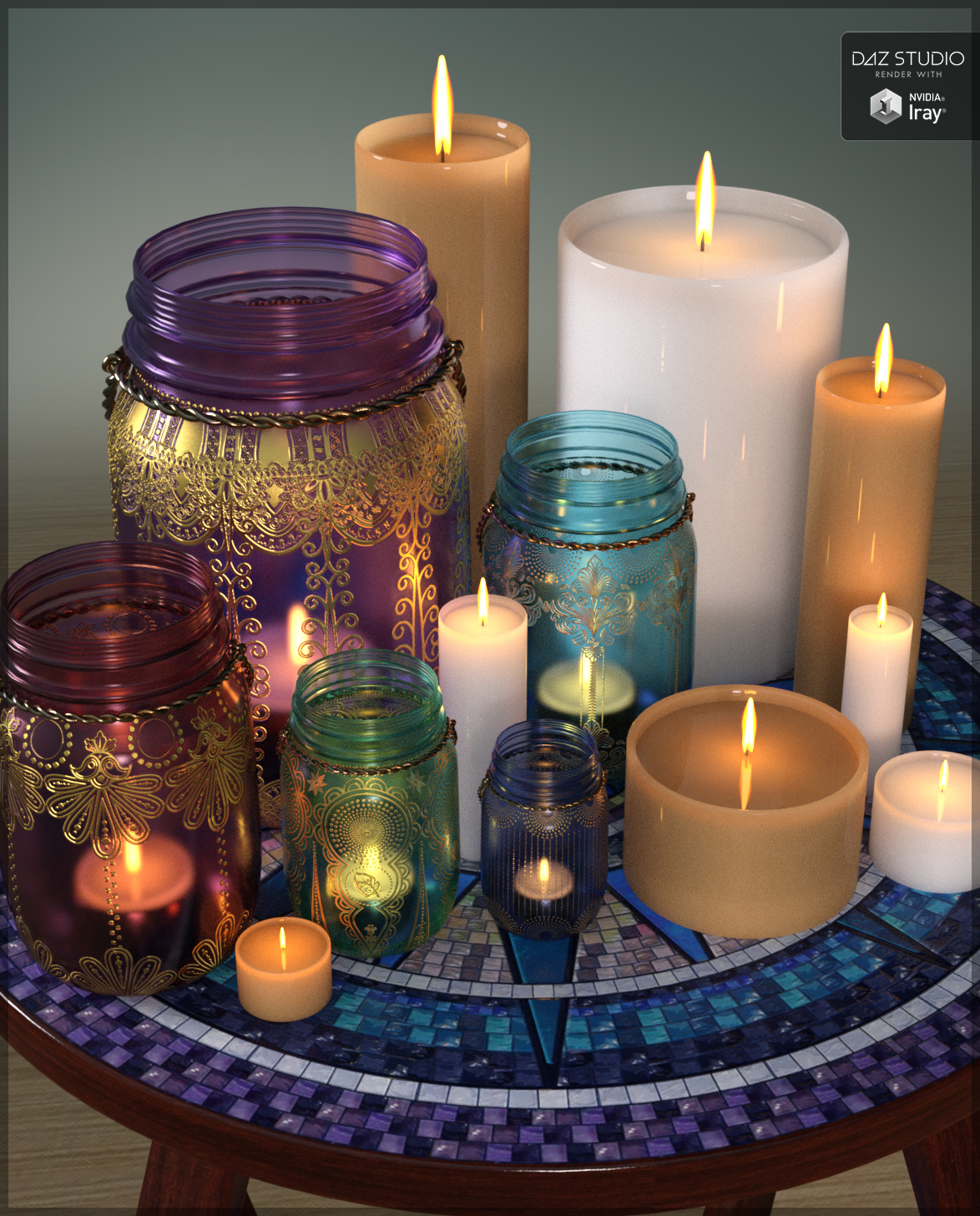 Vasetti Vetro Amazon Bohemian Candles By Sveva Daz Studio Still Life