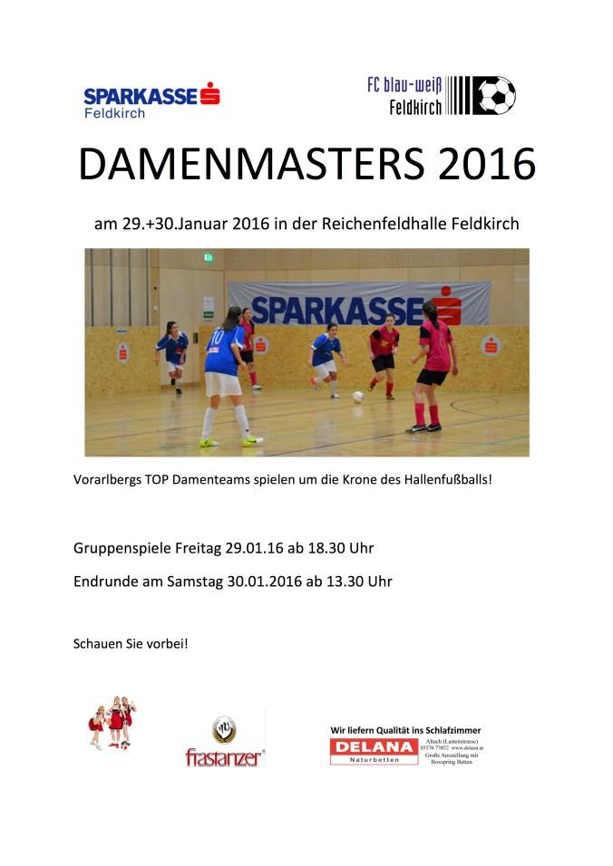 Plakat Damenmasters 2016