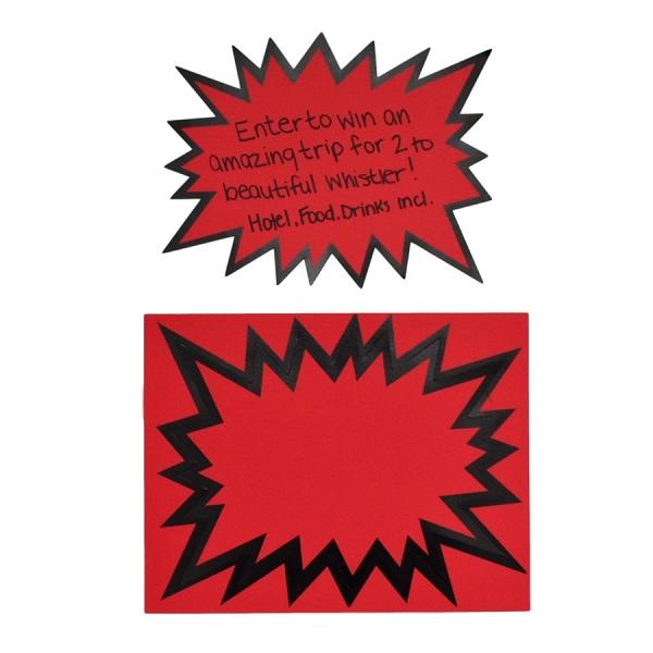 LARGE DEEP RED STARBURSTS