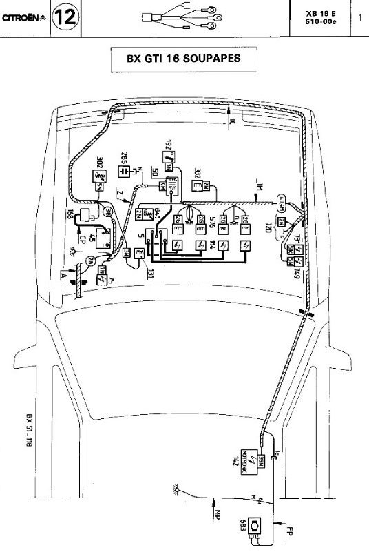 citroen bx19 tri engine diagram