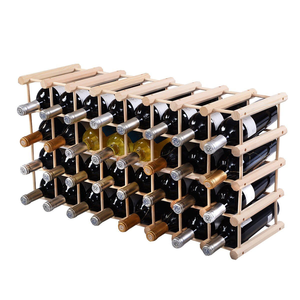 Wooden Bottle Rack Wooden Wine Holder Bottle Rack For 40 Bottles
