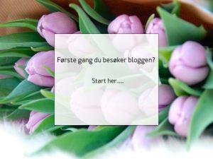 Ny på bloggen? Start her….