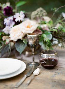 Rustikk, romantisk bord pynt