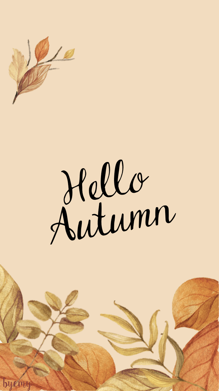 Autumn Iphone Wallpaper Fond D 201 Cran 192 T 201 L 201 Charger Automne By Emy