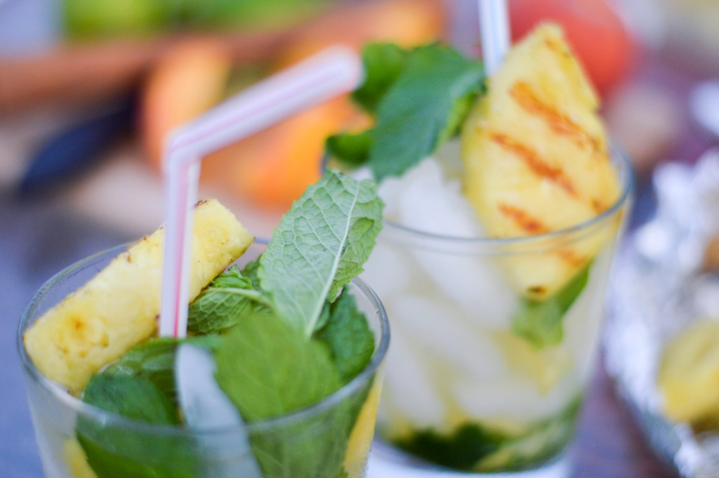 Recipe for Grilled Pineapple and Mint Caipirinha | By Gabriella