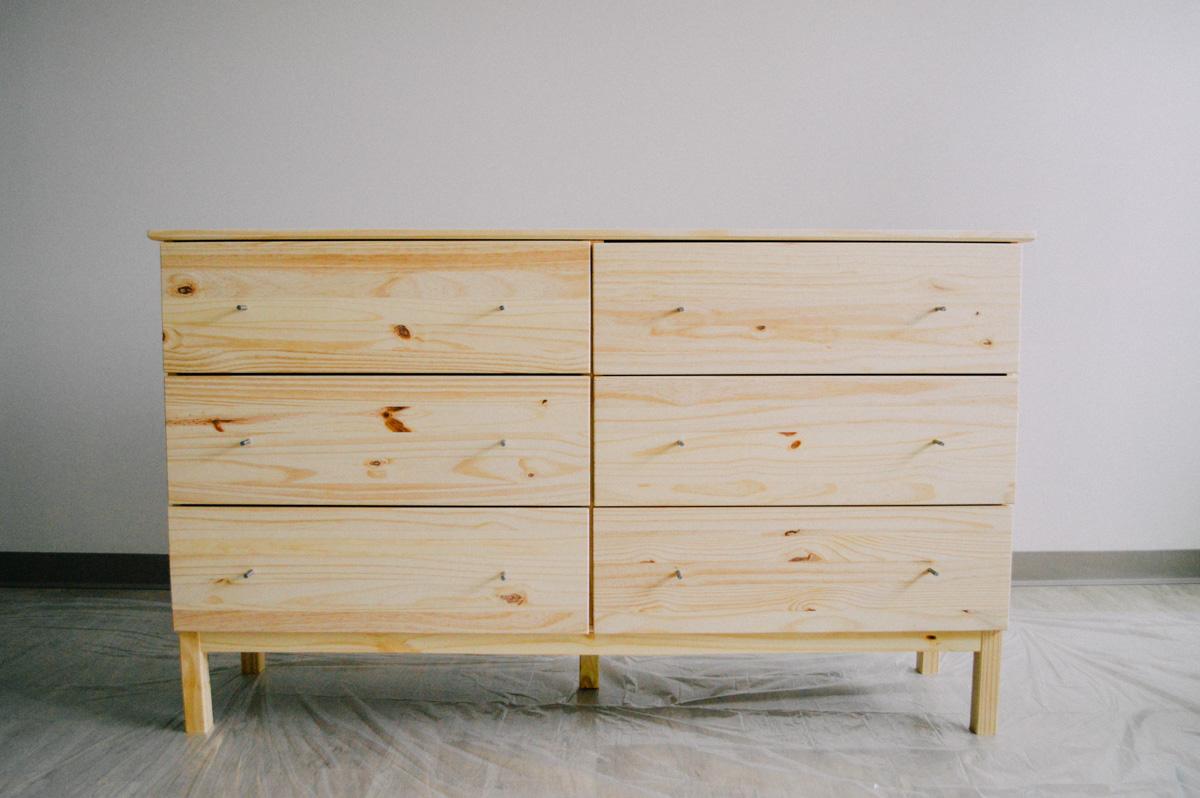 diy ikea tarva dresser hack. Black Bedroom Furniture Sets. Home Design Ideas